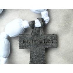 Pamiątka I Komunii Świętej - Różaniec Przytulaniec (biały)